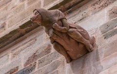 Cathédrale Notre-Dame - English:  Gargoyle of the Cathedral of Our Lady of the Assumption of Rodez, Aveyron, France