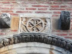 Eglise Saint-Christophe des Templiers - Français:   Chrisme, parfois nommé \