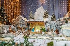 Eglise - English:  Nativity scene in the Saint Blaise church in Seysses, Haute-Garonne, France