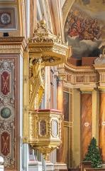 Eglise - English:  Pulpit in the Saint Blaise church in Seysses, Haute-Garonne, France