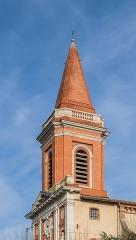 Eglise - English:  Bell tower of the Saint Blaise church in Seysses, Haute-Garonne, France