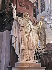 Eglise Saint-Sernin - English:   Entrance to the Choir of the Basilica of St. Sernin, Toulouse - Statue of Exuperius