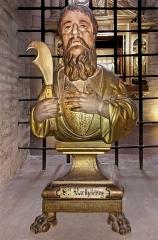 Eglise Saint-Sernin - English:   Basilica of St. Sernin, Toulouse, Haute-Garonne, France - Bust of Bartholomew the Apostle