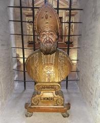 Eglise Saint-Sernin - English:   Basilica of St. Sernin, Toulouse, Haute-Garonne, France - Relicary bust of Honorat of Toulouse