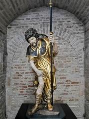Eglise Saint-Sernin - English:   Basilica of St. Sernin, Toulouse, Haute-Garonne, France -   Statue of Saint Roch
