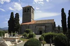 Eglise Saint-Just - English:   Built from the 11th to the 12th century, the basilica has been consecrated in 1200 by Bishop Raymond-Arnaud Labarthe.