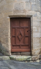Eglise Notre-Dame-du-Puy - English:   Side door of the Notre-Dame-du-Puy church of Figeac, Lot, France