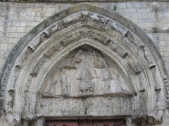Eglise Saint-Pierre - Français:   Église Saint-Pierre de Dreux (Eure-et-Loir, France), tympan du portail nord-ouest