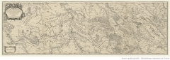 Ancien aqueduc de Pontgouin à Versailles (également sur communes de Berchères-Saint-Germain et Pontgouin) - Français:   Carte réalisée par le cartographe du roi Louis XIV d\'après les plans de Vauban
