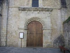 Eglise Saint-Symphorien -  Église Saint-Symphorien d'Azay-le-Rideau (Indre-et-Loire, France): détail de la façade occidentale
