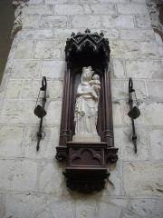 Eglise abbatiale Saint-Benoît -  Église abbatiale Saint-Benoît de Saint-Benoît-sur-Loire (Loiret, France): statue de Vierge à l'Enfant