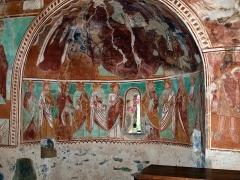 Eglise Sainte-Christine - Deutsch:  Fresken mit Heiligen in der Kapelle Santa Cristina