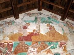 Eglise Sainte-Christine - Deutsch:  Fresken in der Kapelle Santa Cristina: Jesus Christus am Kreuz
