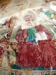 Eglise Sainte-Christine - Deutsch:  Christus Pantokrator (Christus, der Weltenherrscher), der eine  Schrift mit dem Text