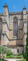 Ancienne cathédrale, actuelle église paroissiale Saint-Fulcran - English:   Saint Fulcran cathedral of Lodève, Hérault, France