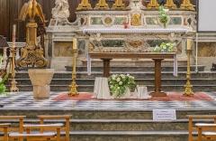 Ancienne cathédrale, actuelle église paroissiale Saint-Fulcran - English:   Altar in the Saint Fulcran cathedral of Lodève, Hérault, France