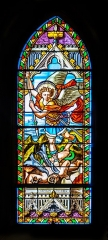 Eglise paroissiale Notre-Dame-de-la-Carce - English:  Stained-glass window in the Our Lady church in Marvejols, Lozère, France