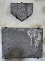 Eglise Saint-Sauveur - Français:   Église Saint-Sauveur d\'Ham-en-Artois, plaque funéraire d\'Antoinette de Molin. Pas-de-Calais, France.