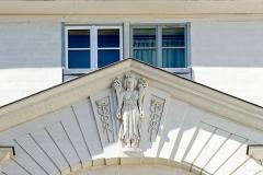 Hôtel Scheult -  Détail de la façade de l'hôtel Scheult, 8 rue de l'Héronnière. (Nantes, Loire-Atlantique, Pays de la Loire, France).