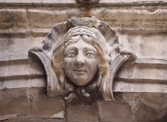 Hôtel Villetreux -  Cour de l'Hôtel Vitreux à Nantes (44). Mascaron