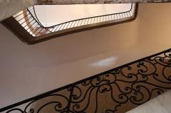 Hôtel Villetreux -  Cage d'escalier sud de l'Hôtel Villetreux à Nantes (44).
