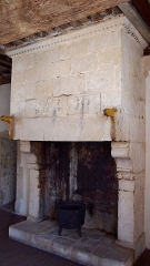 Maison dite le Grand Quartier - Français:   Valognes (Normandie, France). Une cheminée de la maison du Grand Quartier.