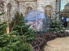 Hôtel de ville - Français:   Décorations de Noël dans la cour de l\'hôtel de ville de Mâcon.