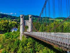 Pont suspendu de la Caille (également sur commune d'Allonzier-la-Caille) - Deutsch:   Caille-Brücke, Allonzier-la-Caille, Département Ober-Savoyen, Region Auvergne-Rhône-Alpes (ehemals Rhône-Alpes), Frankreich