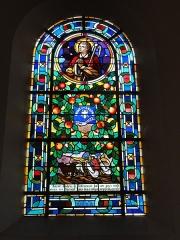 Ateliers de fabrication de vitraux, dits Ateliers Lorin - Français:   Ypreville-Biville (Seine-Mar.) église d\'Ypreville, vitrail