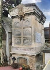 Entrée du cimetière de Terre-Cabade - English:   Terre-Cabade cemetery in Toulouse - Virebent family cellar (Auguste; Gaston; Pascale; Jean-François and Raymond).