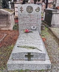 Entrée du cimetière de Terre-Cabade - English:   Terre-Cabade cemetery in Toulouse - Tomb of Philibert Collet