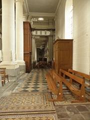 Eglise Saint-Gervais-Saint-Protais -  Déambulatoire nord du chœur de la basilique Saint-Gervais d'Avranches (50).