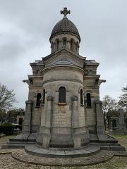 Chapelle funéraire de Jules Hunebelle, située dans le cimetière communal - Français:   Chapelle funéraire de Jules Hunebelle dans le cimetière communal, Clamart.