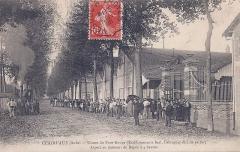 Ancienne abbaye de Clairvaux - Français:   Clairvaux (Aube) - Usines du Pont Rouge (Etablissements Berl, Fabriques de Lits en fer) Aspect au moment au Repos a 4 heures.