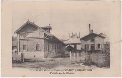 Ancienne abbaye de Clairvaux - Deutsch:   Clairvaux (Aube) - Usines Poliet & Chausson - Fabrique de Chaux