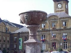 Hôtel de ville -  Fontaine place Ducale (détail) Charleville-Mézières France