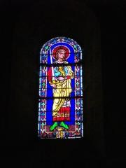 Eglise Notre-Dame-en-Vaux et son cloître - Français:   Vitrail de la collégiale Notre-Dame-en-Vaux à Châlons-en-Champagne (Marne, France)