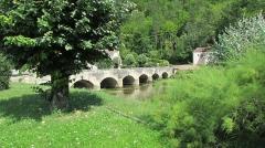 Pont enjambant la Marne - Français:   Condes: le pont sur la Marne