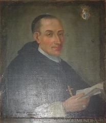 Abbaye de Morimond (ruines) - English:   Portrait of Lazare Languet, abbot of Morimond (1720-1736).