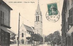 Eglise Saint-Germain - Français:   Vitry-sur-Seine.Place de l'église