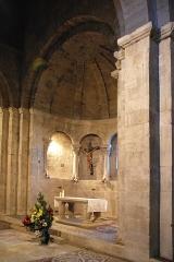 Prieuré - Français:   France - Alpes-de-Haute-Provence - Abbaye Notre-Dame de Ganagobie - Chœur et mosaïques