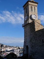 Tour du Suquet, chapelle Sainte-Anne et église Notre-Dame-de-l'Espérance - Français:   Cannes - Clocher du Suquet