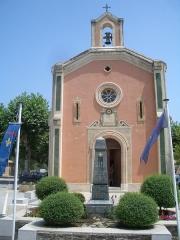 Chapelle Sainte-Magdeleine et castrum - Français:   Église Sainte-Marie-Madeleine, La Môle, France