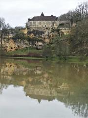 Château d'Aucors - Français:   Crue de la Nizonne au château d\'Aucors, Beaussac, commune de Mareuil en Périgord, Dordogne, France.