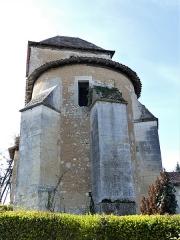 Eglise Notre-Dame de l'Assomption - Français:   Le chevet de l\'église Notre-Dame-de-l\'Assomption, Bourg-du-Bost, Dordogne, France.