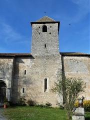 Eglise Notre-Dame de l'Assomption - Français:   Le clocher de l\'église de Bourg-du-Bost, Dordogne, France.
