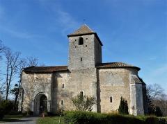 Eglise Notre-Dame de l'Assomption - Français:   La façade sud de l\'église de Bourg-du-Bost, Dordogne, France.