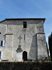 Eglise Saint-Jean-Baptiste de Comberanche - Français:   La façade ouest de l\'église de Comberanche, Comberanche-et-Épeluche, Dordogne, France.
