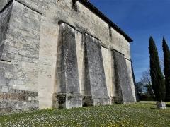 Eglise Saint-Jean-Baptiste de Comberanche - Français:   Contreforts de la façade sud, église de Comberanche, Comberanche-et-Épeluche, Dordogne, France.