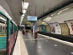 Métropolitain, station Nation - Français:   Station Nation de la ligne 6 du métro, Paris.